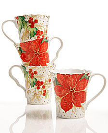 222 Fifth Winter Confetti 4-Pc. Mug Set