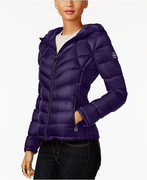 d8cf054692b3 Michael Kors Petite Quilted Packable Down Coat   Reviews - Coats ...