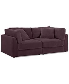 """Aryanna 88"""" 2-Pc. Modular Sofa, Created for Macy's"""