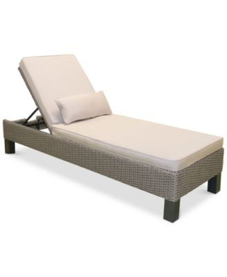 Del Mar Wicker Outdoor Chaise Lounge Created for Macyu0027s  sc 1 st  Macyu0027s : macys chaise - Sectionals, Sofas & Couches