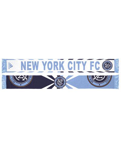 adidas New York City FC Jacquard Wordmark Scarf