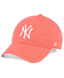 '47 Brand New York Yankees Grapefruit CLEAN UP Cap