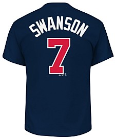 Majestic Men's Dansby Swanson Atlanta Braves Official Player T-Shirt