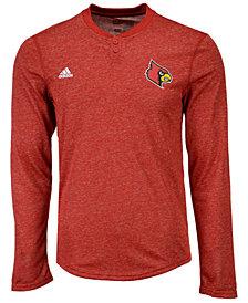adidas Men's Louisville Cardinals Henley Long Sleeve T-Shirt