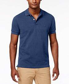 Men's Slim-Fit Pique Knit Cotton Polo