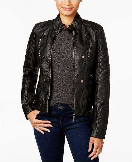 cc28d4d7f986 Jou Jou Juniors  Faux-Leather Jacket