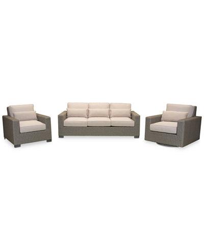 Del Mar 3-Pc. Set (1 Sofa, 1 Club Chair & 1 Swivel Chair), Created for Macy's