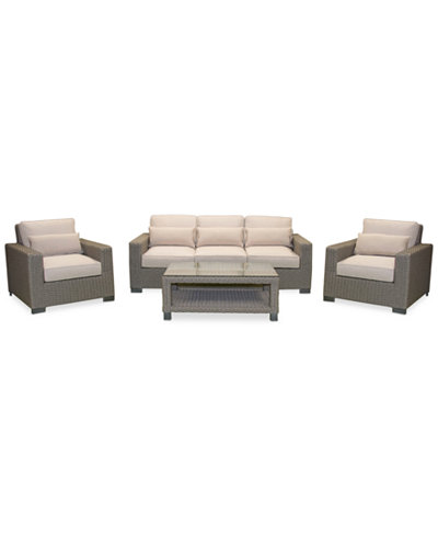 Del Mar 4-Pc. Set (1 Sofa, 2 Club Chairs & 1 Coffee Table), Created for Macy's