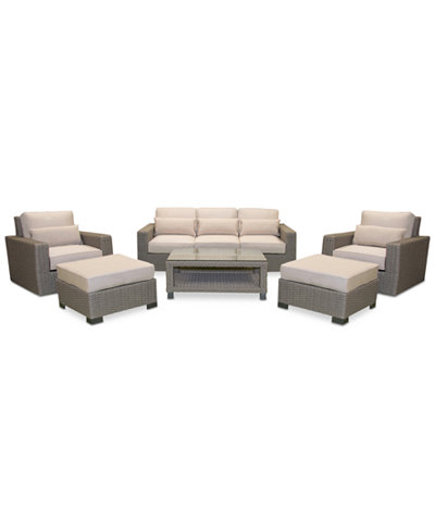 Del Mar 6-Pc. Set (1 Sofa, 2 Swivel Chairs, 2 Ottoman & 1 Coffee Table), Created for Macy's