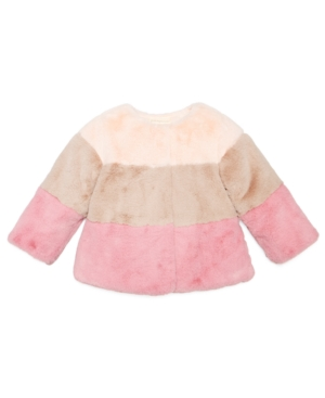 First Impressions Colorblocked FauxFur Jacket Baby Girls (024 months) Created for Macys