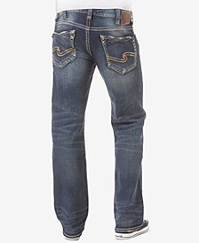 Men's Zac Relaxed Fit Straight Stretch Jeans