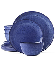CLOSEOUT! Hotel Collection Olaria Lapis 12-Pc. Dinnerware Set, Service for 4, Created for Macy's