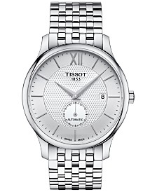 Tissot Men's Swiss Automatic Tradition Stainless Steel Bracelet Watch 40mm