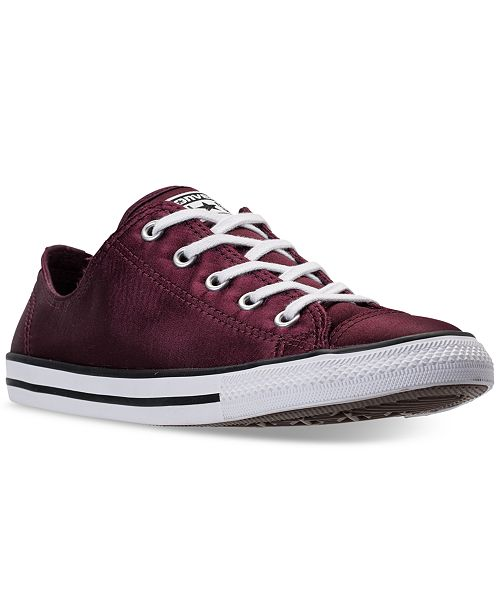 40b5efd8b7d66c ... Converse Women s Chuck Taylor Dainty Satin Casual Sneakers from Finish  ...