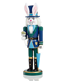 "Holiday Lane 14"" Wood March Hare Nutcracker, Created for Macy's"