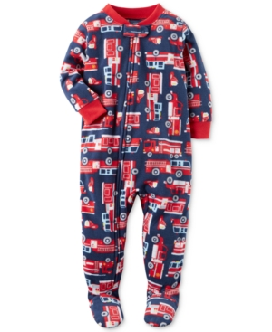Carters 1Pc FiretruckPrint Footed Pajamas Baby Boys (024 months)
