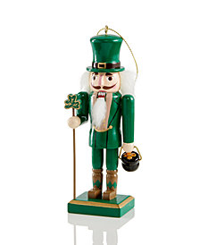 Holiday Lane Wooden Green Irish Nutcracker Ornament, Created for Macy's