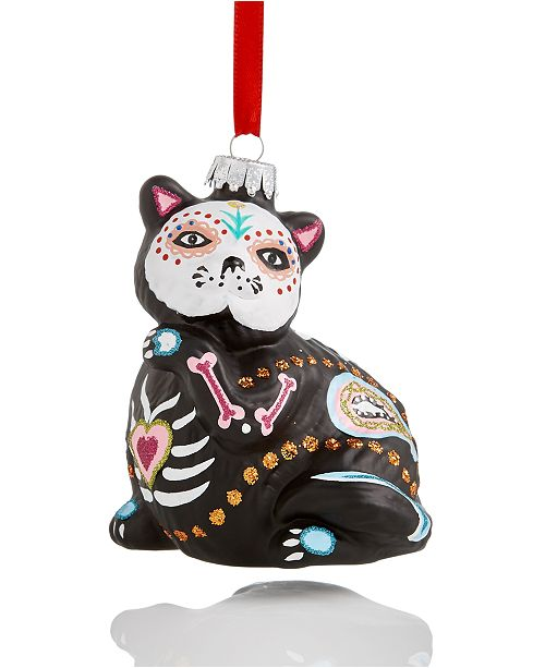 product details this charming holiday lane day of the dead black cat ornament - Black Cat Christmas Ornament