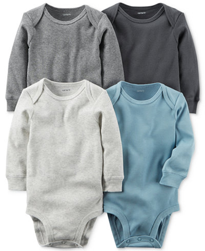 Carter's 4-Pk. Cuffed Cotton Bodysuits, Baby Boys