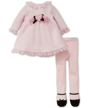 Little Me 2Pc Sweater Dress  Footed Tights Set Baby Girls (024 Months)