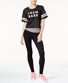 Material Girl Active Juniors' Cropped T-Shirt & Yoga Leggings, Created for Macy's
