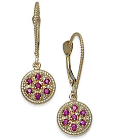 Ruby (3/8 ct. t.w.) & Diamond Accent Drop Earrings in 14k Gold
