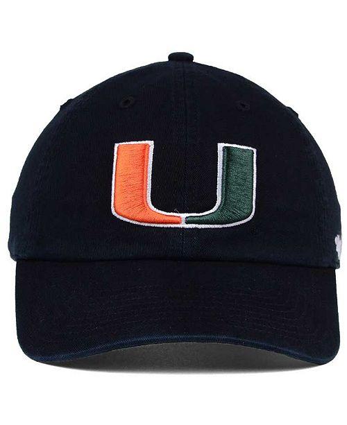 382c005150e1f  47 Brand Miami Hurricanes CLEAN UP Cap - Sports Fan Shop By Lids - Men -  Macy s
