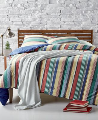 Cameron Reversible Yarn-Dyed Stripe  Full/Queen Down-Alternative Comforter