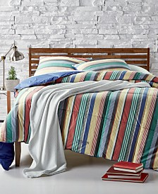 Lauren Ralph Lauren Cameron Reversible Yarn-Dyed Stripe  Full/Queen Down-Alternative Comforter
