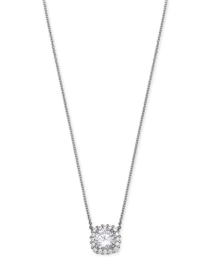 Giani Bernini - Cubic Zirconia Halo Pendant Necklace
