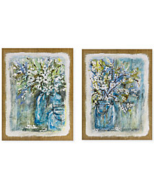 Madison Park Burlap Blossoms 2-Pc. Gel-Coated Canvas Print Set