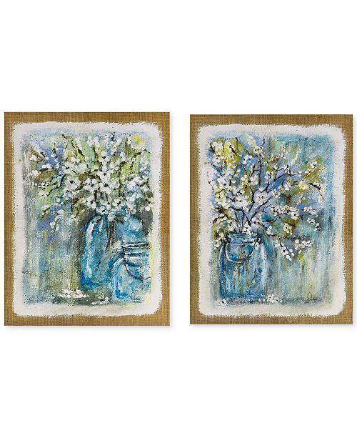 Jla Home Madison Park Burlap Blossoms 2 Pc Gel Coated Canvas Print Set Reviews Wall Art Macy S