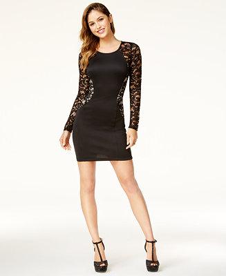 BCX Juniors' Lace Bodycon Dress - Dresses - Juniors - Macy's