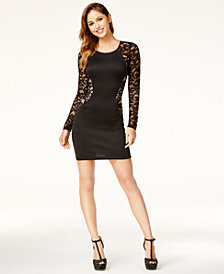 BCX Juniors' Lace Bodycon Dress