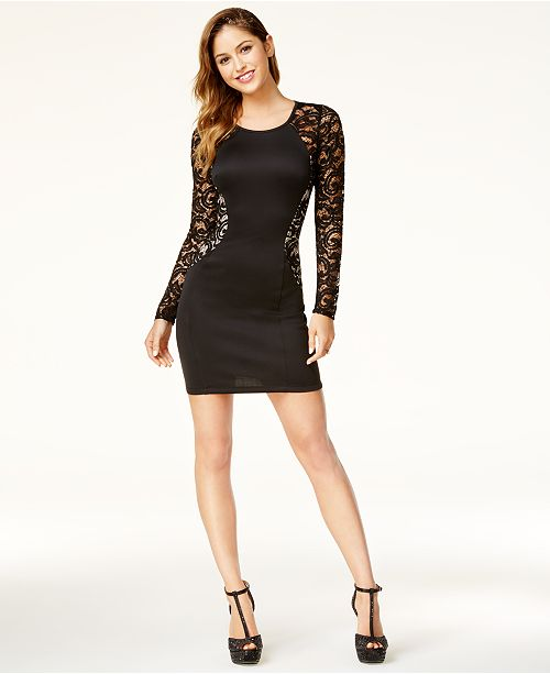 BCX Black Bodycon Juniors' Lace Dress SrZPYrqw