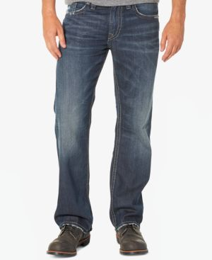 Silver Jeans Co. Men's Zac Relaxed Fit Straight Jeans 4781946