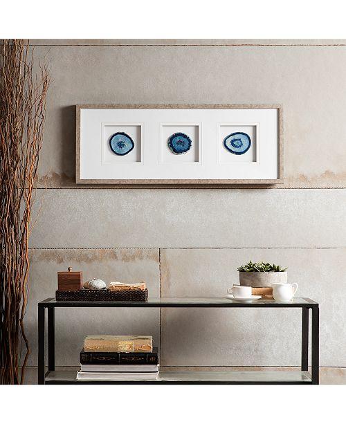 JLA Home Madison Park Blue Agate Trio Framed Stone Wall Art - Wall ...