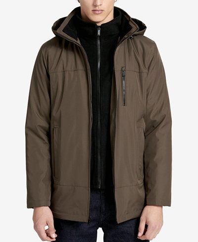 Calvin Klein Men's Fleece-Lined Hooded Jacket - Coats & Jackets ...