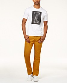 Men's Graphic Print T-Shirt & Athlete Tapered Fit Jeans