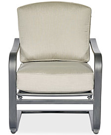 Marlough Wide Slat C-Spring Chair, Created for Macy's