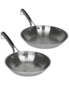 Revere® Copper Confidence Core™ 2-Pc. Stainless Steel Stainless Steel Fry Pan Set