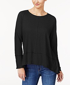 Petite Seamed High-Low Top, Created for Macy's