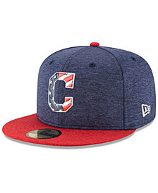 New Era Boys' Cleveland Indians Stars & Stripes 59FIFTY Cap