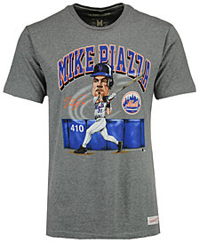 Mitchell & Ness Men's Mike Piazza New York Mets Coop Caricature Vintage T-Shirt