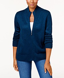 Zip-Front Sweater, Created for Macy's