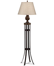 Pacific Coast Pinecone Decorative Floor Lamp