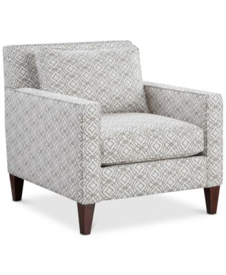 """CLOSEOUT! Kenford 34"""" Fabric Print Armchair, Created for Macy's"""