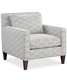 "Kenford 34"" Fabric Print Armchair, Created for Macy's"