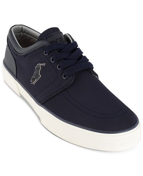 Ralph Lauren Faxon Perforated Sneaker itrW9