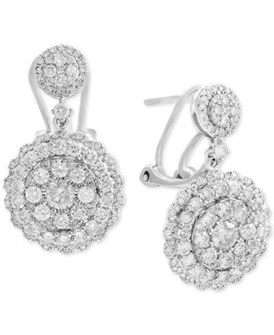 Rock Candy by EFFY® Diamond Cluster Drop Earrings (2-1/10 ct. t.w.) in 14k White Gold